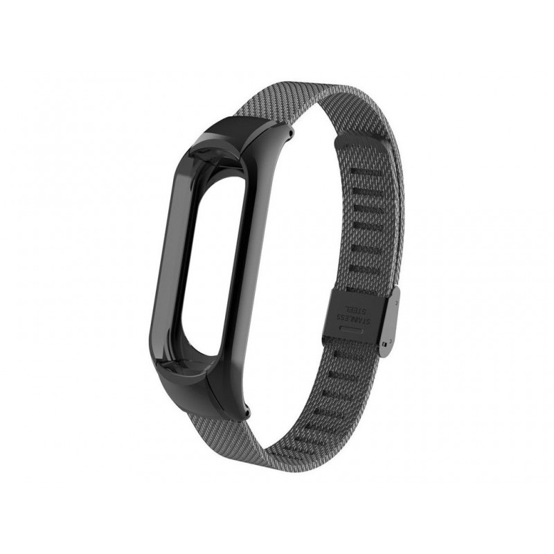 Aксессуар Ремешок Apres для Xiaomi Mi Band 3 Metal Mesh Strap Black