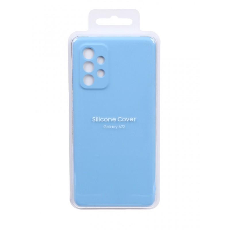 Чехол-накладка для Samsung Galaxy A72 Silicone Cover Blue EF-PA725TLEGRU