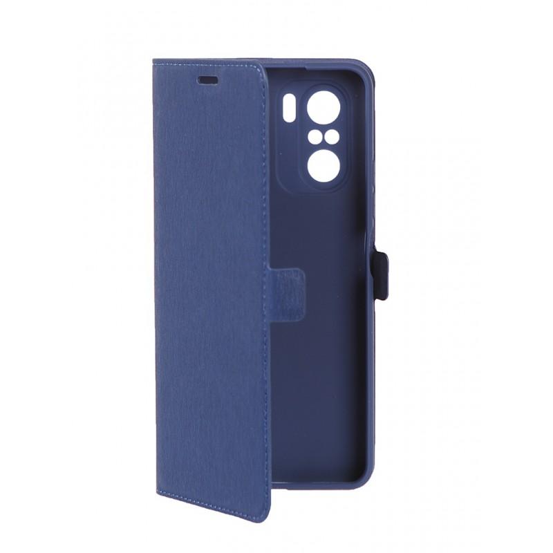 Чехол DF для Poco F3 / Xiaomi Redmi K40 Blue poFlip-04