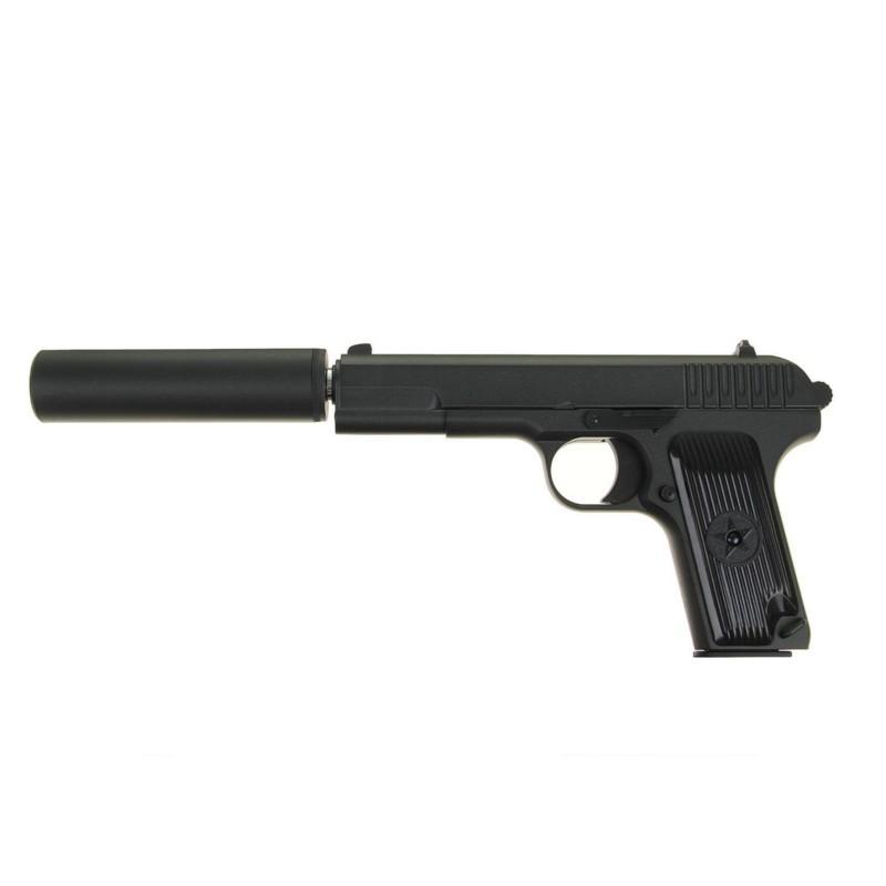 Страйкбольный пистолет Galaxy G.33A TT с глушителем
