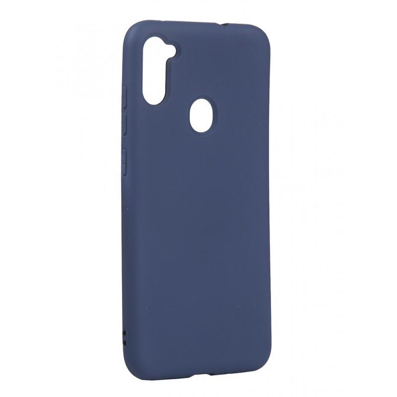 Чехол с микрофиброй DF для Samsung Galaxy M11/A11 (EU) Silicone Blue sOriginal-12