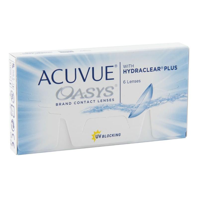 Контактные линзы Johnson & Johnson Acuvue Oasys with Hydraclear Plus (6 линз / 8.4 / -2)
