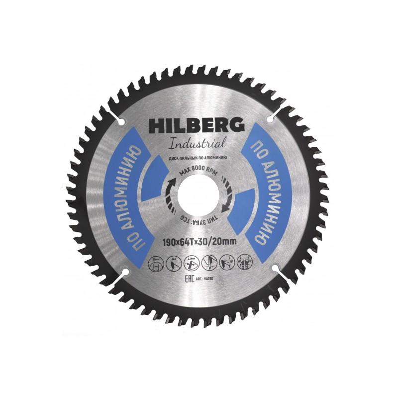 Диск Trio Diamond Hilberg Industrial HA190 пильный по алюминию 190x30/20mm 64 зуба