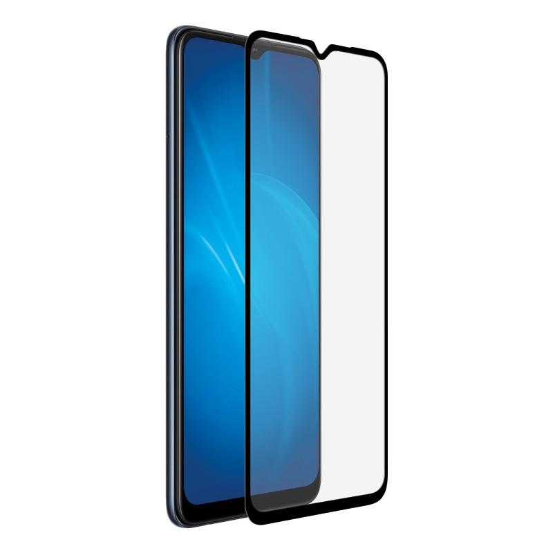 Закаленное стекло DF для Oppo A15 / A15s Full Screen Full Glue Black Frame oColor-21