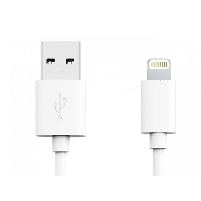 Аксессуар Media Gadget NL-001M USB - Lightning 1m White MGSNL001MWTST