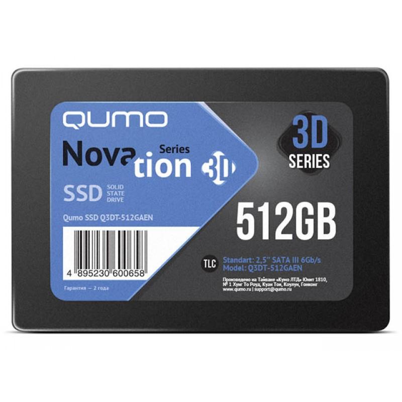 Жесткий диск Qumo Novation MLC 3D SSD 512Gb Q3DT-512GAEN