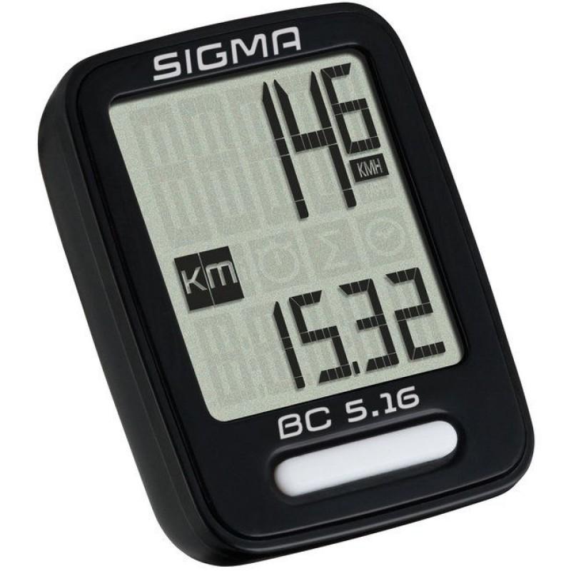 Велокомпьютер Sigma Sport BC 5.16 TopLine Black SIG_05160