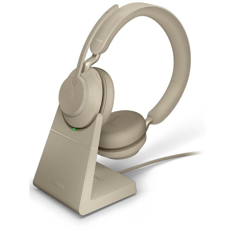 Наушники Jabra Evolve2 65 Link380c UC Stereo Stand Beige 26599-989-888
